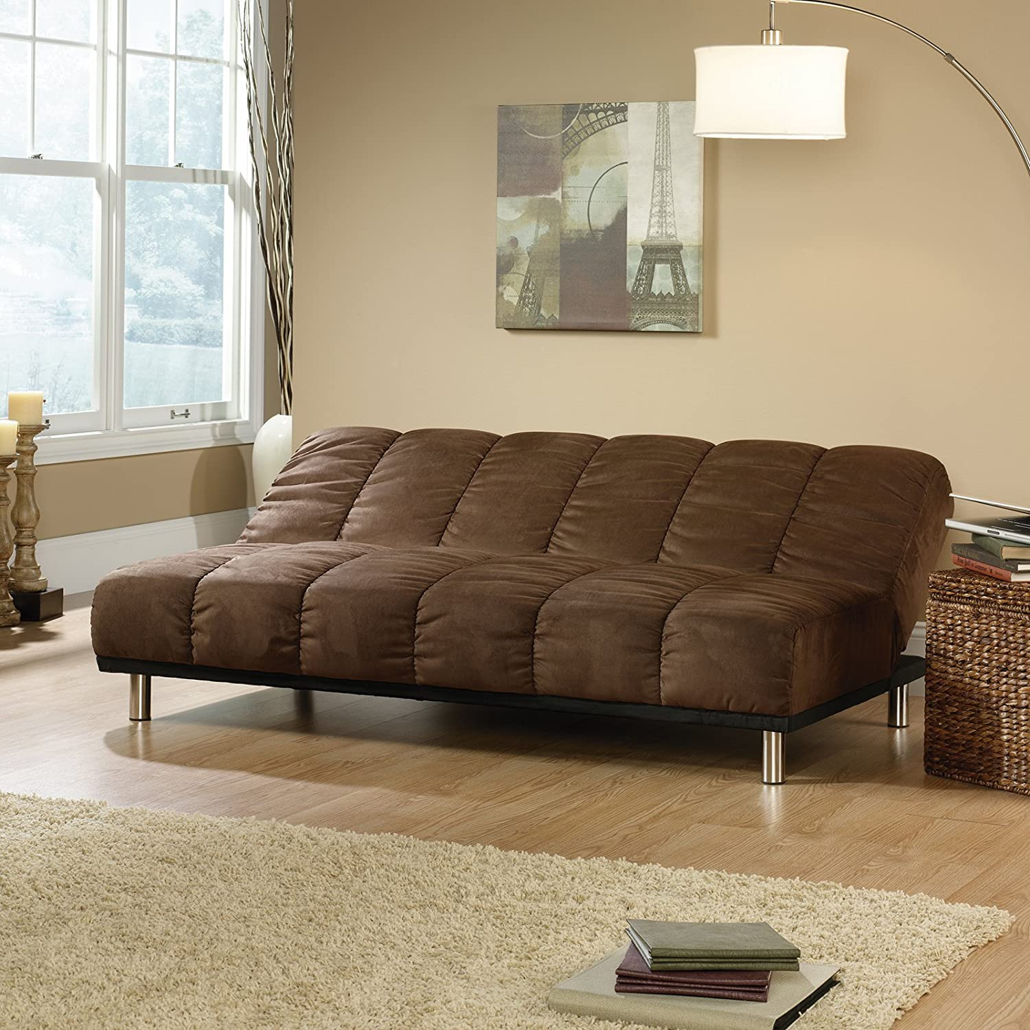 Amazon Sauder Deshler Convertible Sofa in Coffee Kitchen