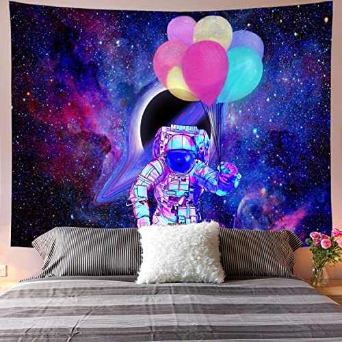 Galoker Space Tapestry, Astronaut Tapestry Galaxy Tapestry Spaceman Astronaut Starry Art Print Wall Hanging Tapestry for Home Decor H70.8 W92.5 inches