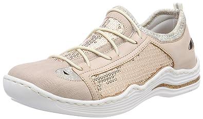 Rieker Damen L2571 Sneaker, Pink (Rose/Nude/Silverflower), 38 EU
