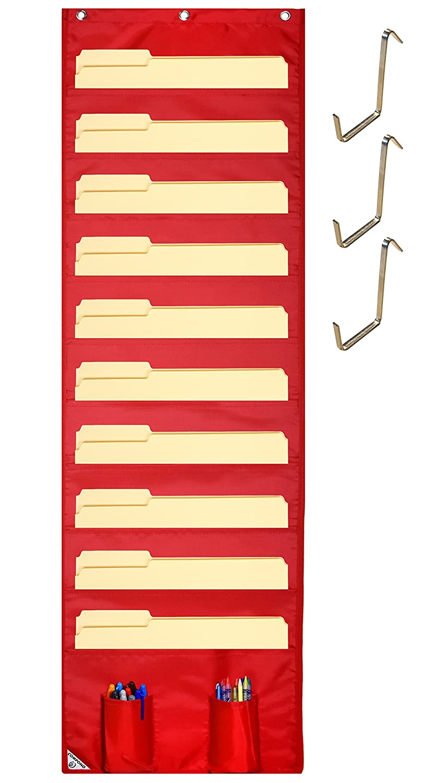 Amazon.com : COMPONO Hanging File Folder Organizer, 10 Pockets & 3 ...