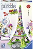 Ravensburger RAP125999 Puzzle 3D Torre Eiffel - Pop Art Edition, 216 Pezzi