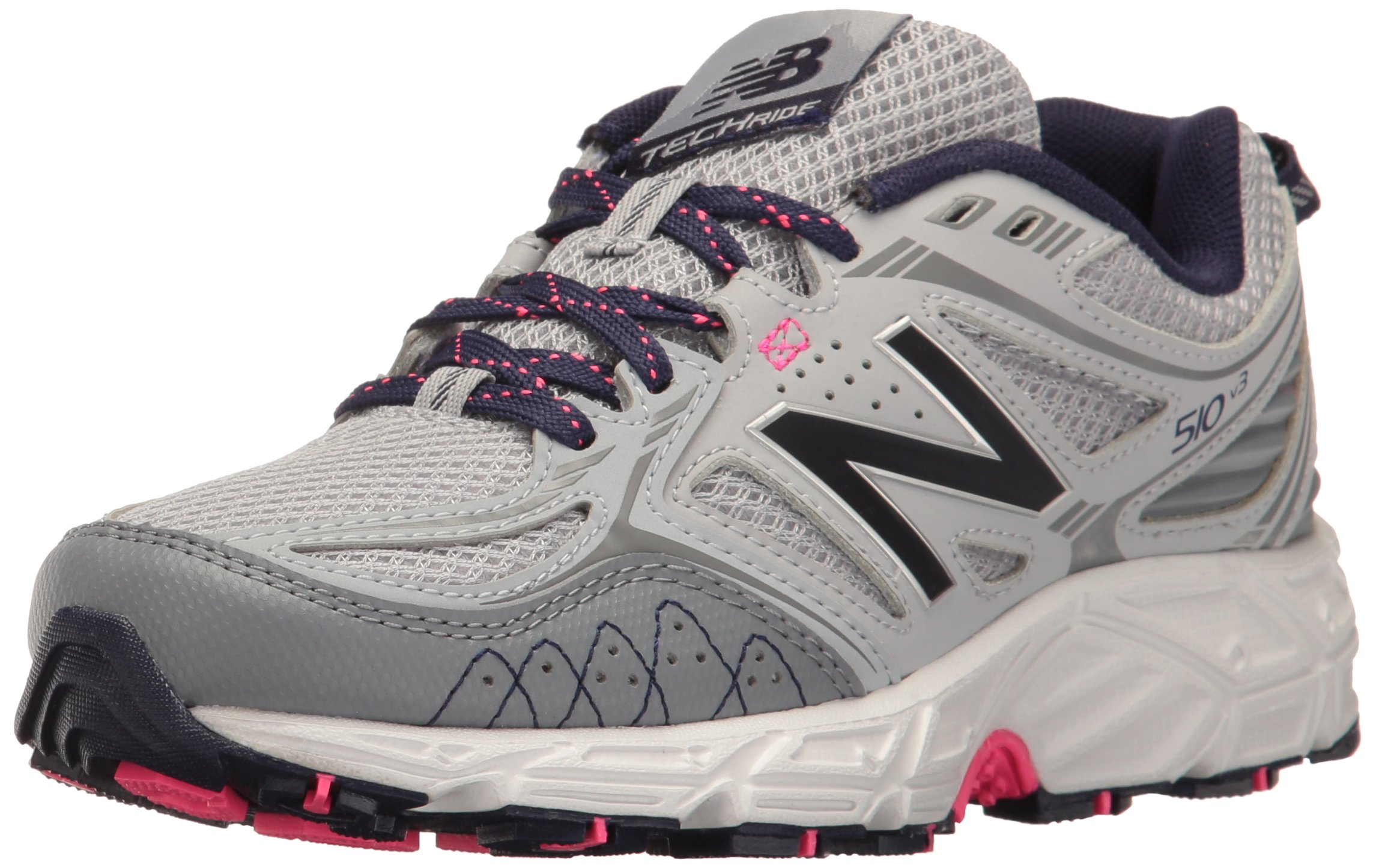 New Balance Women's Cushioning 510V3 Running Shoe Trail Runner, Silver Mink/Gunmetal, 8.5 B US
