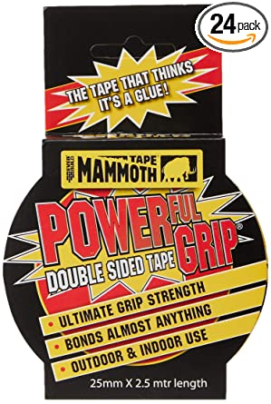 2.5M PACKS OF EVERBUILD 12MM 25MM /& 50MM DOUBLE SIDED SELF ADHESIVE MAMMOTH TAPE
