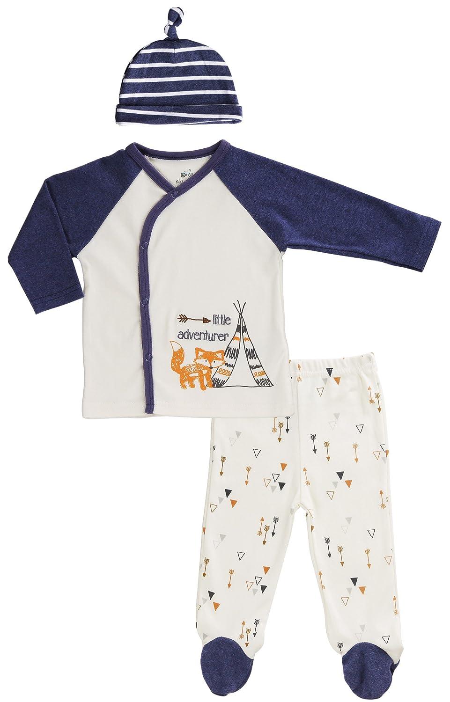 Asher & Olivia Footed Pants Long Sleeve Kimono Shirt 2 Pc Unisex Baby Boy Layette