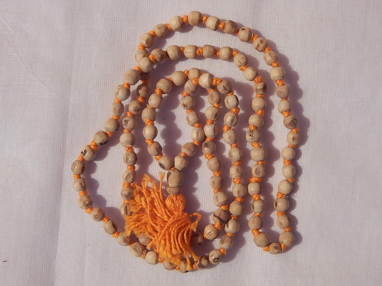 Takething Natural Tulsi Mala para Pooja Healing Japa 108 Cuentas 2 melodías estándar Naranja: Amazon.es: Juguetes y juegos