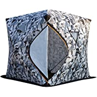 Portable Foldable Ice Fishing Shelter-Large Space for 3/4 Persons Ice Fishing Pop-Up Tent,Add 5 Layers Cotton Thickened…