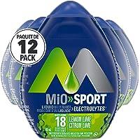 MiO Sport Lemon Lime Electrolyte Liquid Water Enhancer, 48mL (Pack of 12)