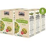 Explore Cuisine Organic Green Lentil Penne (6 Pack) - 8 oz - High Protein, Gluten Free Pasta, Easy to Make - USDA…