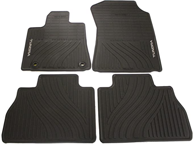 Intro-Tech TO-766R-RT-T Hexomat Second Row 2 pc Custom Fit Auto Floor Mat for Select Toyota Tundra Models Rubber-Like Compound Tan