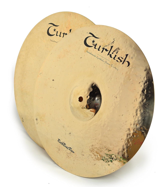 Turkish Cymbals Rock Series 14-inch Rock Beat Raw Hi-Hat * RBR-H14   B014O6MN6E