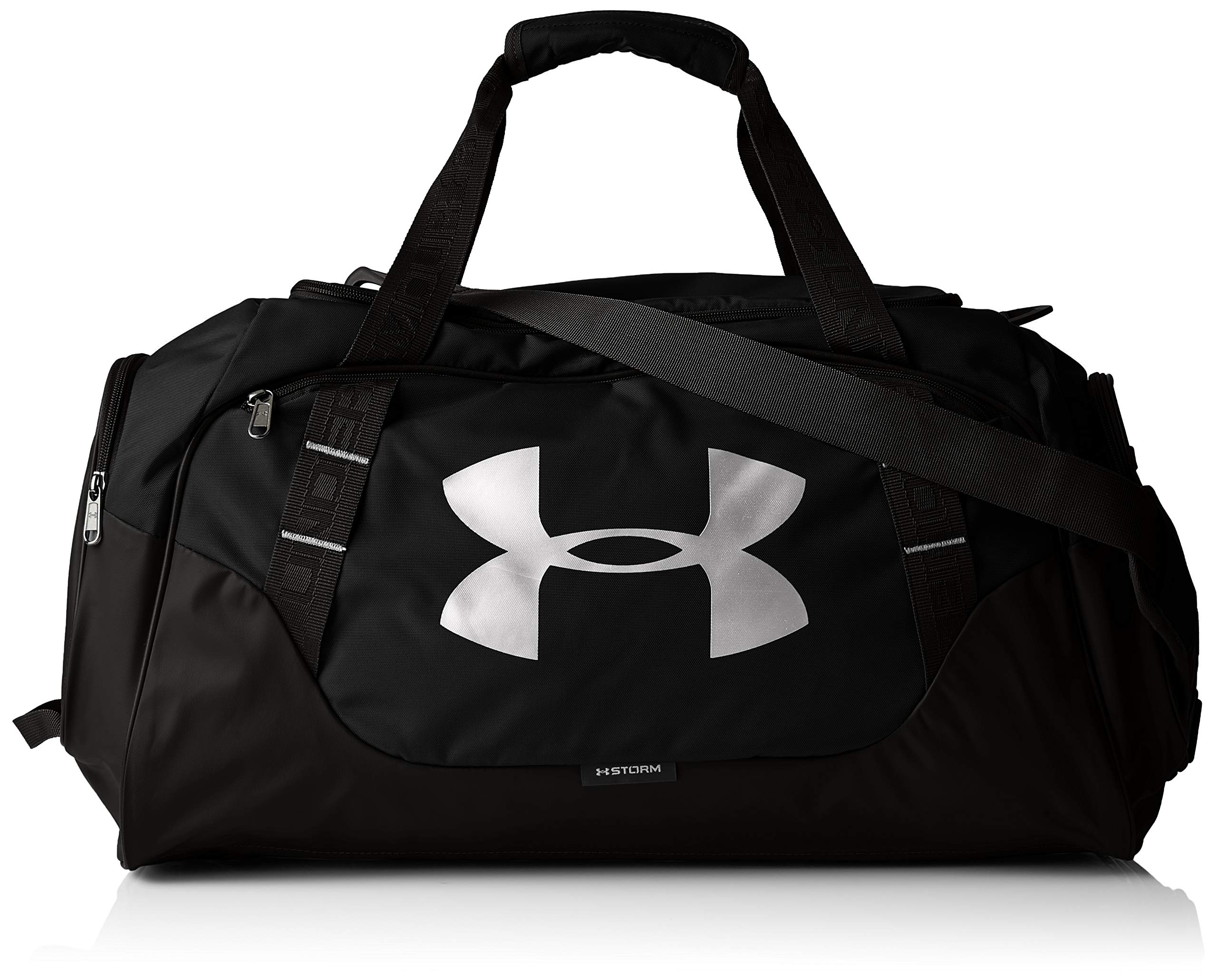 Under Armour Undeniable Duffle 3.0 Gym Bag, Black (001)/Silver, X-Large by Under Armour