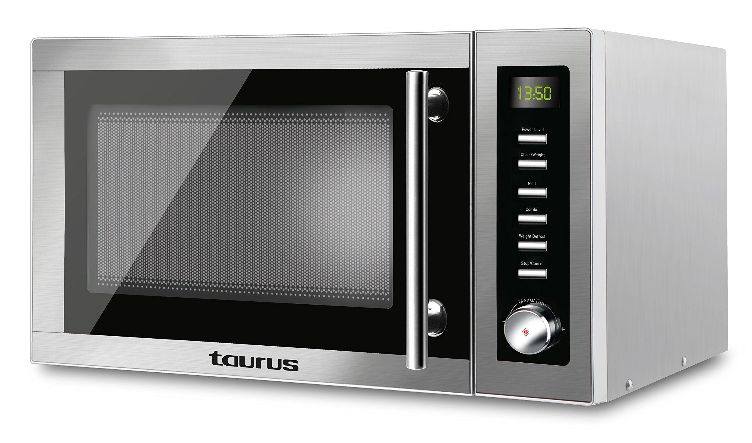 Taurus Laurent-Microondas (900 W, 25 litros Capacidad, 14 Niveles de Potencia, Multiples Funciones), Gris product image