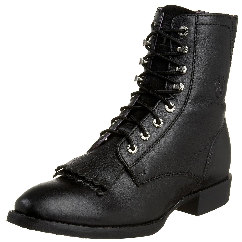 Ariat Women's Heritage Lacer II Western Cowboy Boot B0012HEBLY 9 W US|Black Deertan