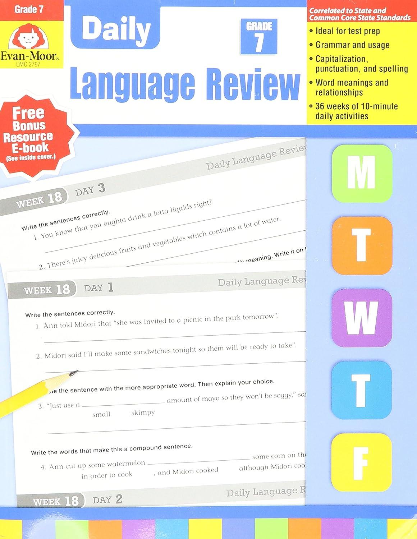 Evan-Moor EMC2797 diario Language Review Gr 7: Amazon.es: Juguetes y juegos