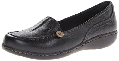 Womens Shoes Clarks Ashland Scurry Black Leather