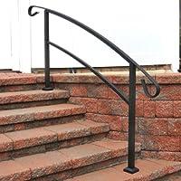 Railing Now   Canyon 5FT Transitional Handrail (Matte Black)