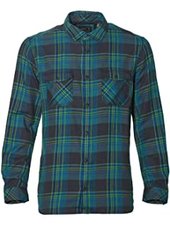 b2e521c260e4 uxcell Men's Long Sleeves Check Print Casual Plaid Flannel Shirt at ...