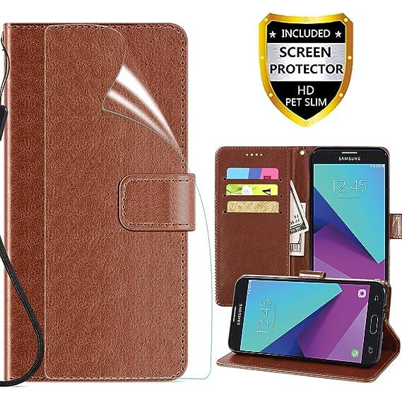 new product fb0ae a3d1f Samsung Galaxy J7 2017 Wallet Case,J7 V J7V 1st Gen 2017 Case,Galaxy J7  Prime Case,Galaxy J7 Perx Case,Galaxy J7 Sky Pro Case,PU Leather Folio Flip  ...