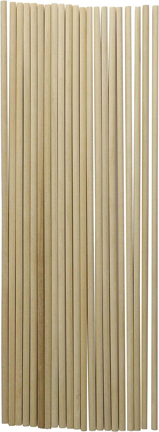 "Loew-Cornell 1021173 Woodsies Dowels 12""-3/16"" 20/Pkg"