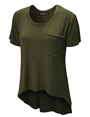 CTC WT938 Womens Oversized Raw-Edge Pocket Tee XXXL OLIVE