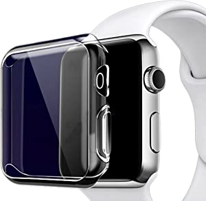 Ailun Screen Protector Compatible Apple Watch Case 42mm Built in TPU Screen Protector All Around Protective Case Clear Ultra Thin Cover for Apple watch Series 2 and Series 3
