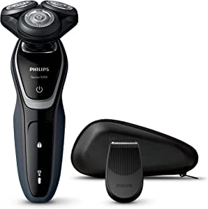 Philips Shaver Series 5000 AquaTouch MultiPrecision, Smart-Click Trimmer, Black