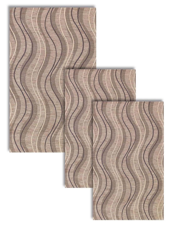 Confezioni.Giuliana Tris Camera da Letto scendiletto 3 tappeti Classico Moderno Altea Tortora