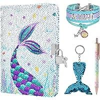 WERNNSAI Sequins Notebook Set - Sparkly Mermaid Journals Unique Gift for Girls Travel School Office Notepad Memos A5…