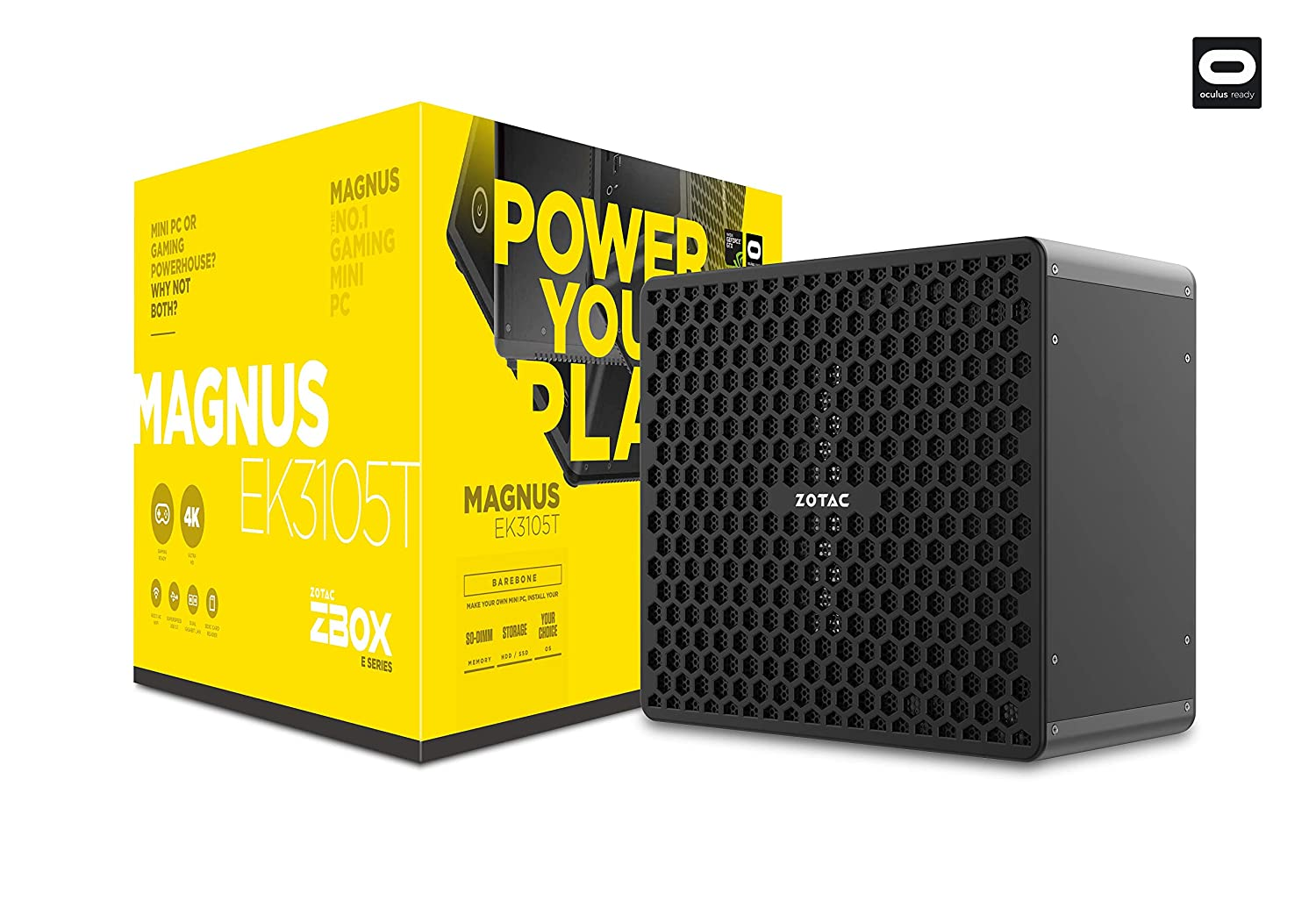 ZOTAC Magnus EK3105T Gaming Mini PC GeForce GTX 1050 Ti Intel Core i3 No Memory/Storage/OS Barebones System (ZBOX-EK3105T-U), No HDD, No RAM