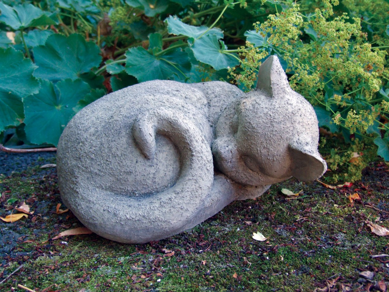 Garden Ornaments   Sleeping Cat Statue Sculpture: Amazon.co.uk: Garden U0026  Outdoors