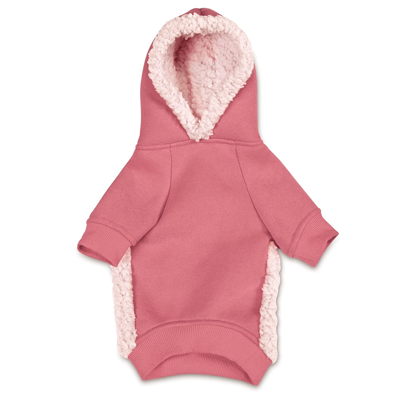 Pink Large Pink Large Casual Canine Cozy Dog Hoodie, Large, Pink