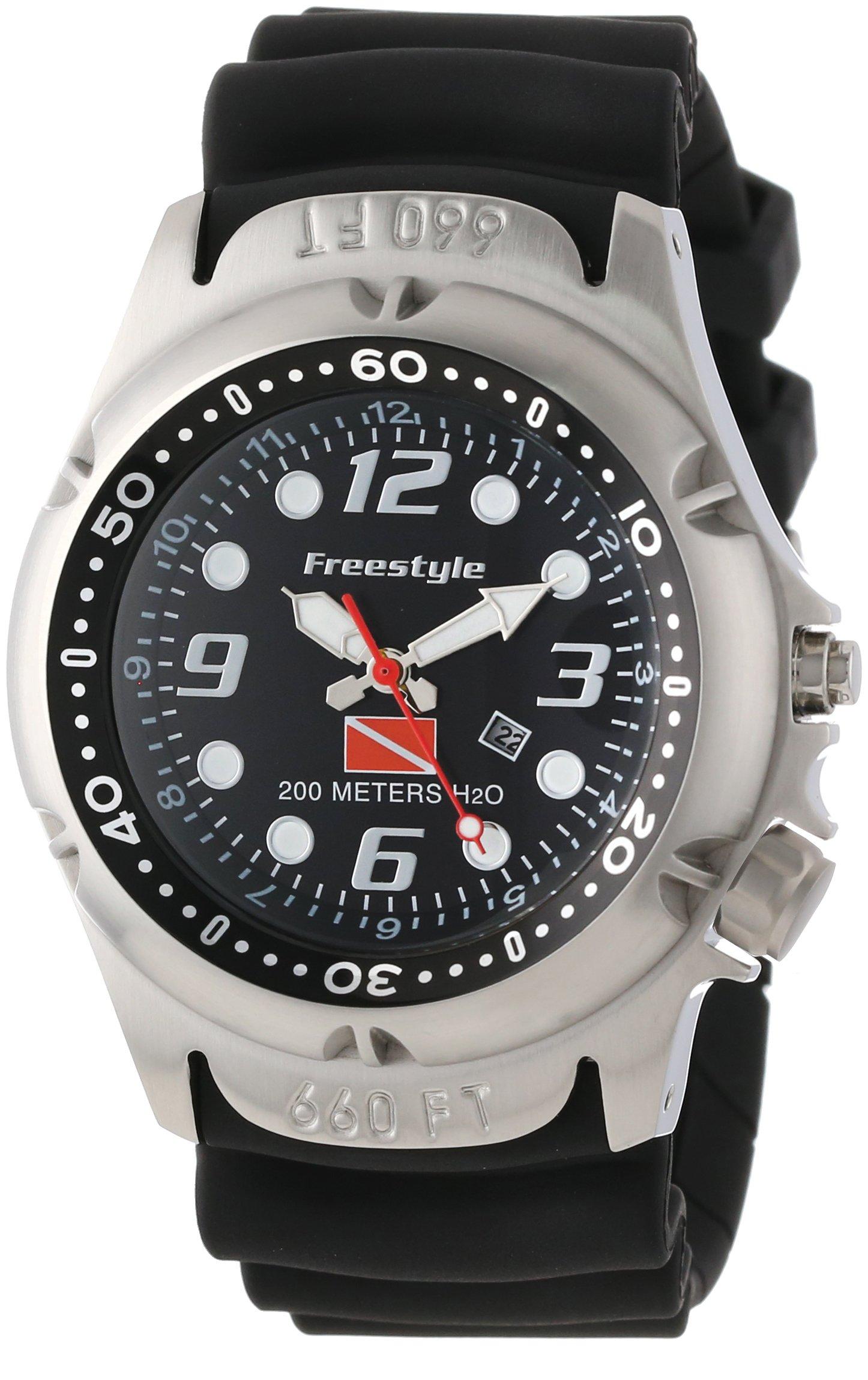 Freestyle Men's 101947 Hammer Hear Analog Display Japanese Quartz Black Watch by Freestyle