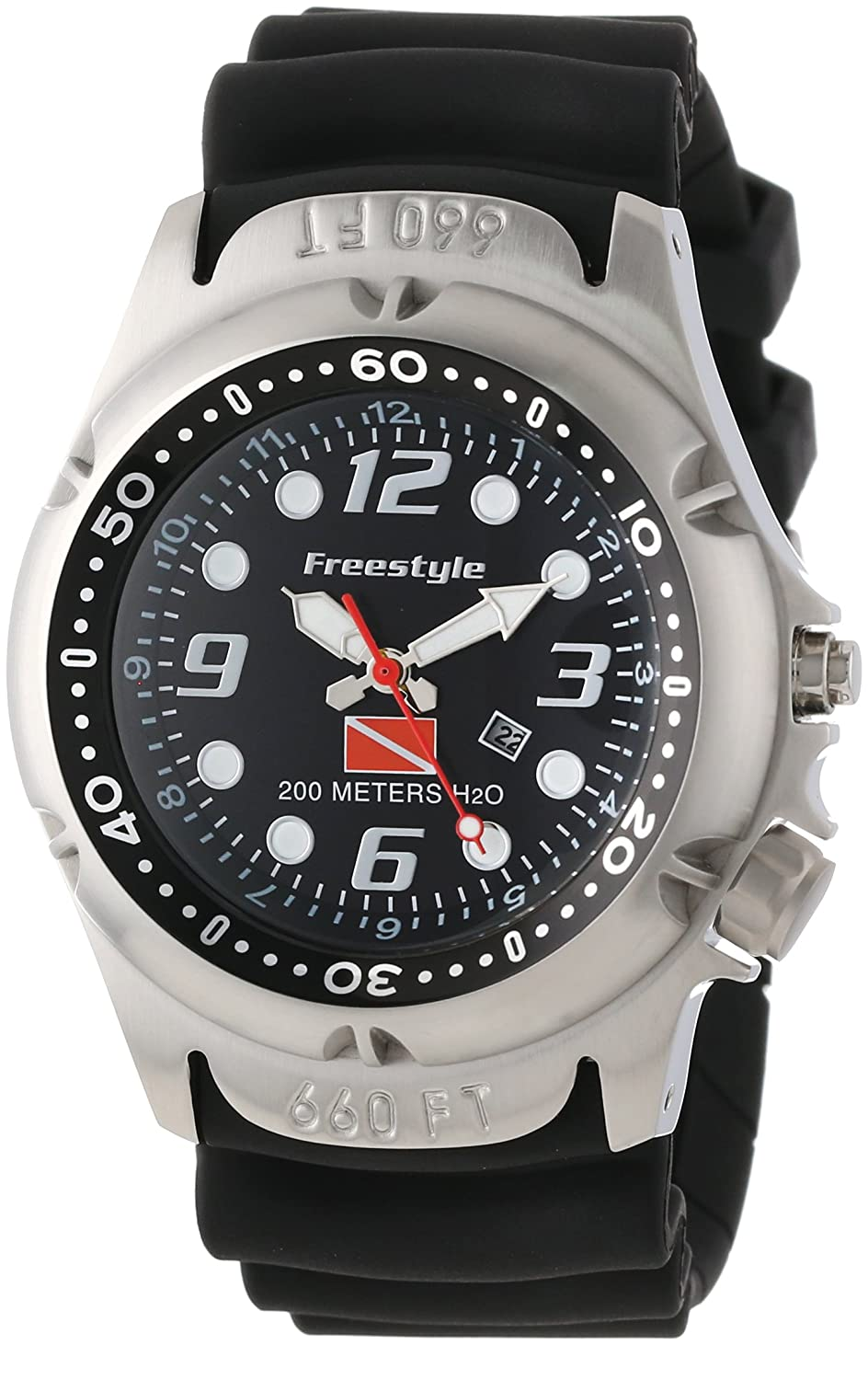Freestyle Men's 101947 Hammer Hear Analog Display Japanese Quartz Black Watch