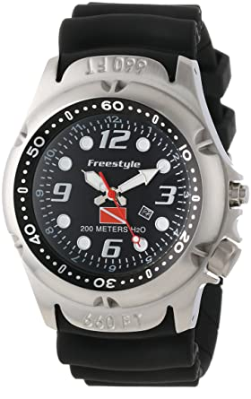Freestyle Mens 101947 Hammer Hear Analog Display Japanese Quartz Black Watch