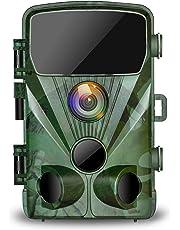 """TOGUARD Wildkamera 20MP 1080P Jagdkamera mit 20M Infrarot Nachtsicht Bewegungsmelder IP56 wasserdichte Überwachungskamera 130°Weitwinkel Beutekameras 2.4"""" LCD für Wildlife Jagd und Haussicherheit"""