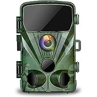 """TOGUARD Wildkamera 20MP 1080P Jagdkamera mit 20M Infrarot Nachtsicht Bewegungsmelder IP56 wasserdichte Überwachungskamera 130°Weitwinkel Beutekameras 2.4"""" LCD für Überwachung Sicherheit"""