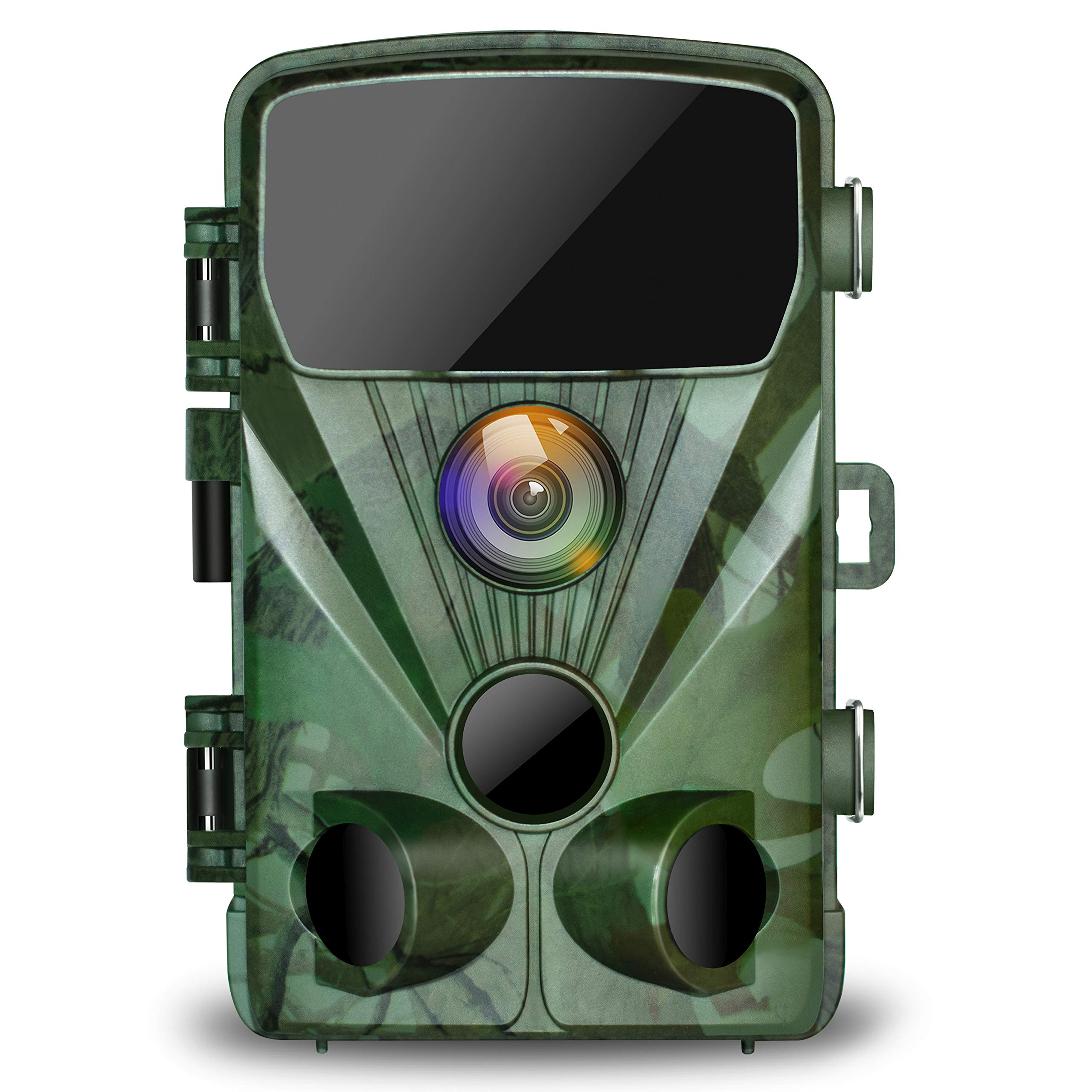 TOGUARD Trail Camera 20MP 1080P Hunting Game Cameras with Night Vision 130° Detection Motion Activated Waterproof Wildlife Hunting Cam with 0.3s Trigger Speed 2.4'' LCD IR LEDs