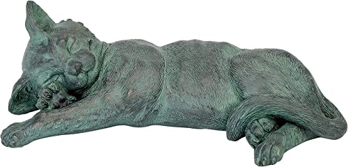 Design Toscano EU2883 Kitty Cat Kitten Statue,Verdigri