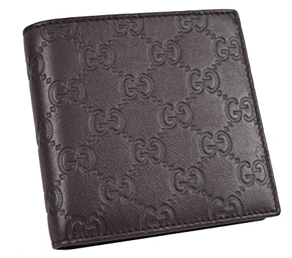f8d22bf0abb7 Image Unavailable. Image not available for. Color: Gucci Men's 150413 Brown Leather  GG Guccissima Coin Pocket Bifold Wallet ...