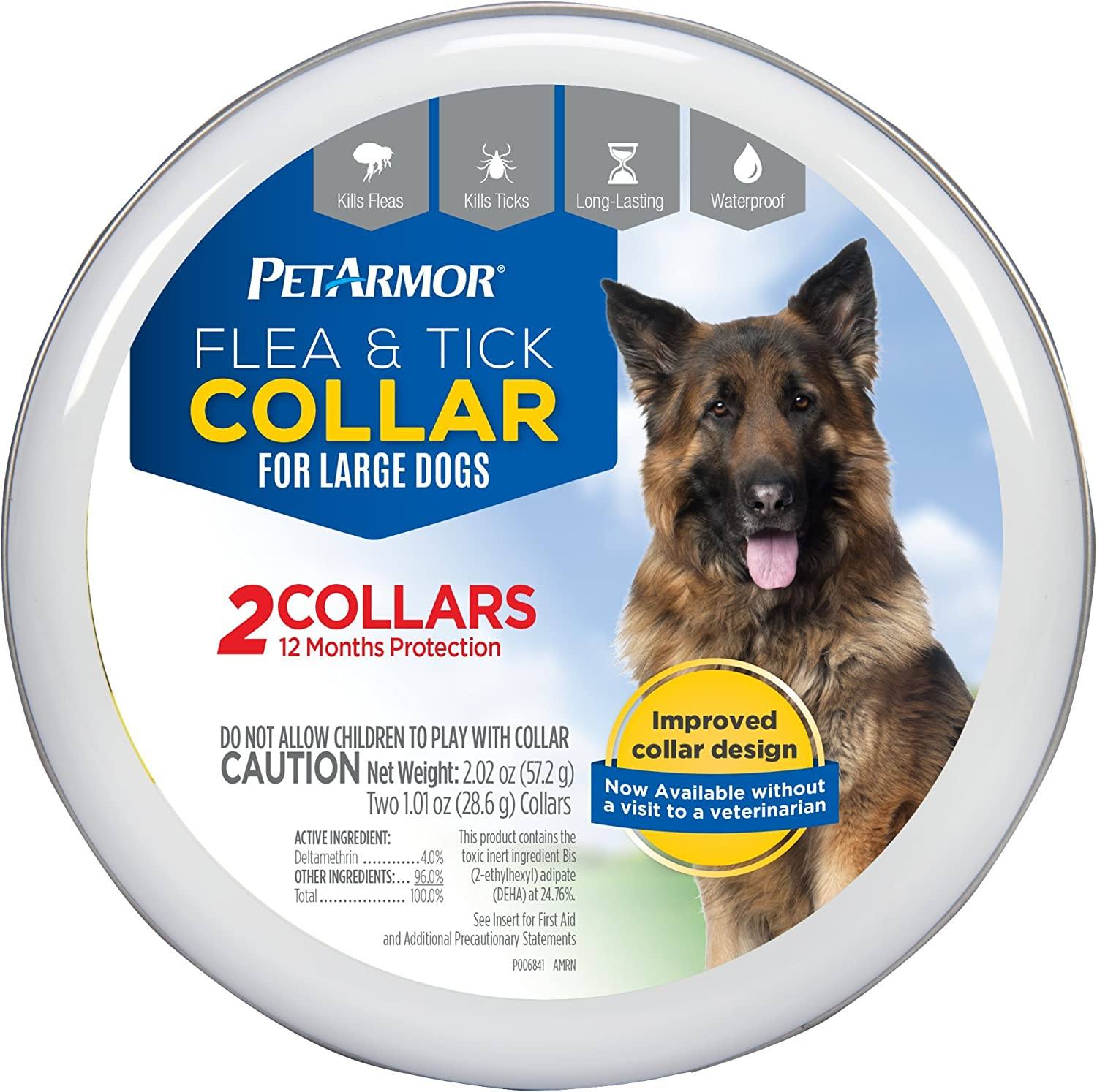 PETARMOR 2 Count Flea & Tick Collar for Dogs