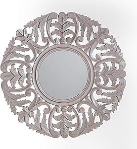Fetco Tagen Decorative Mirror, Distressed Grey