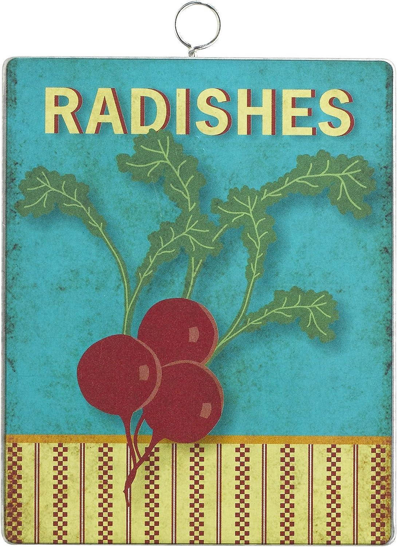 Grasslands Road Metal Radishes Garden Marker Stake, 4-Inch, Set of 5