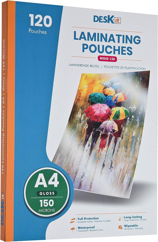 A4 150 Micron Laminating Pocket Pouches Pack of 25 Sheets Texet LMA4BAG