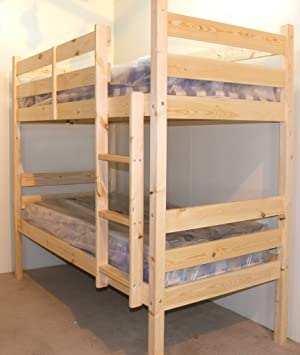 Adult Bunkbed With Two Memory Foam Mattresses 3ft Single Solid