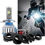Win Power-40W H4 LED Motocicletta Lampadina del Faro -3600LM 6000K Bianca Cree LED Fanale Anteriore H/L Fascio Lampada,1 pezzi
