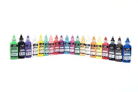 Amazon.com: Tulip Dimensional Fabric Paint Party Pack, Permanent 3D Paint for Fashion Diys, Rock Painting, Arts & Crafts - Rainbow & Neon Colors, ...