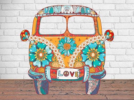 Photocall Furgo Hippie | 1,50 m x 1,56 m | Photocall Ideal para ...