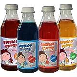 4 Multi Pack von Slushie Sirup - Mango, Erdbeere, Cola und Blaue Himbeere