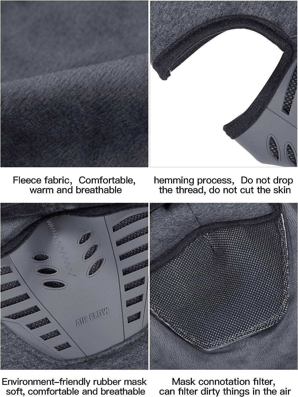 4 Pieces Winter Fleece Balaclava Hats Windproof Breathable Hats Face Masks for Women Men