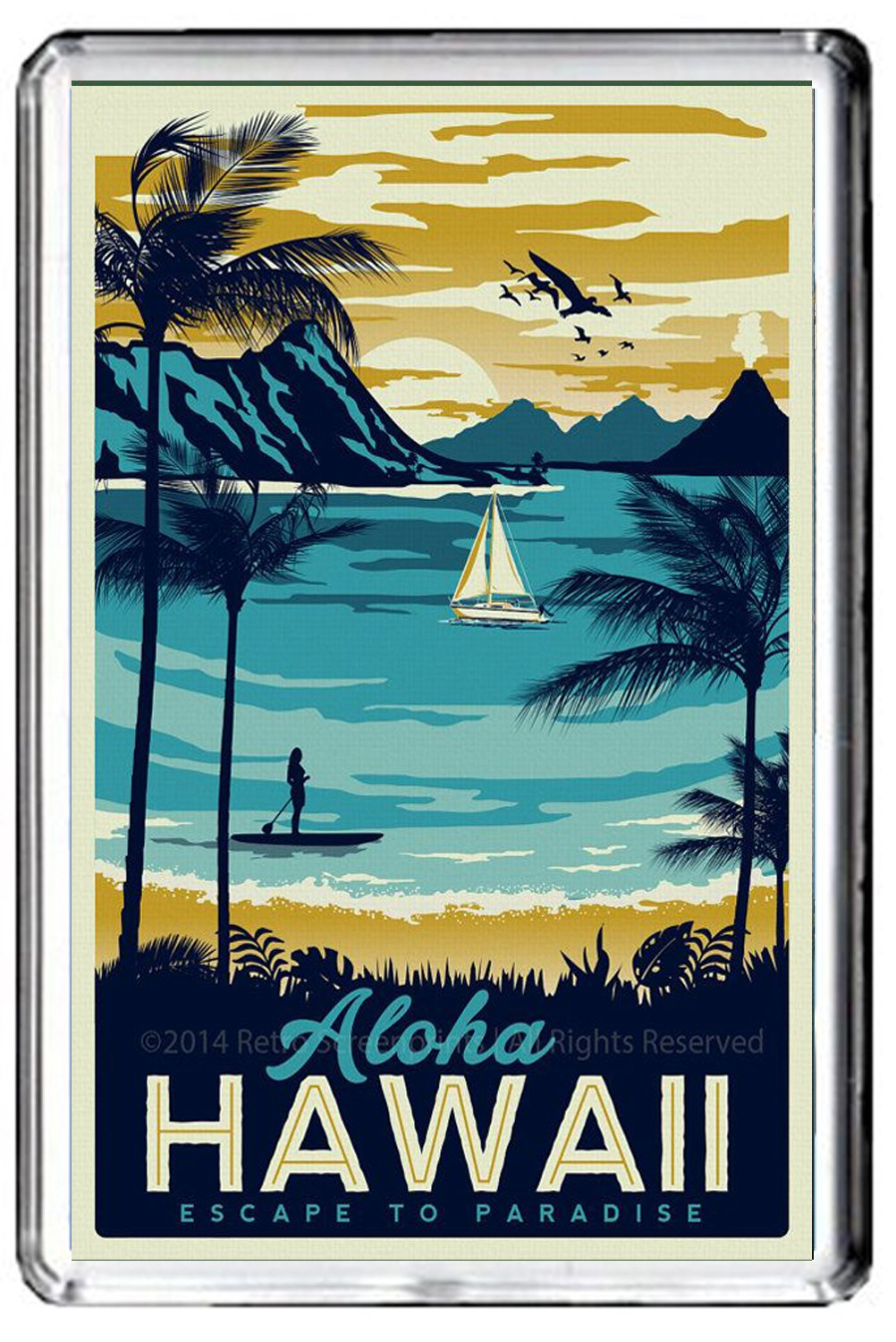 B593 Aloha Hawaii Fridge Magnet USA Vintage Travel Photo Refrigerator Magnet GIFTSCITY